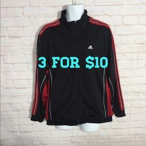 Adidas red black tracksuit jacket medium